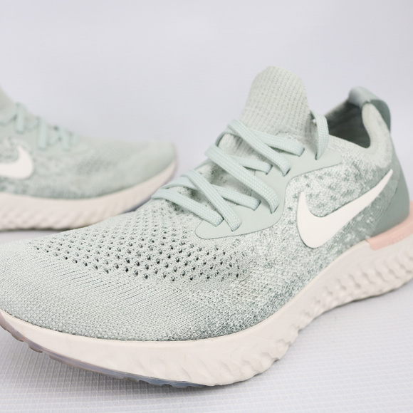 special section competitive price new arrival Nike Shoes | Epic React Flyknit Silver Crimson Sz 75 | Poshmark